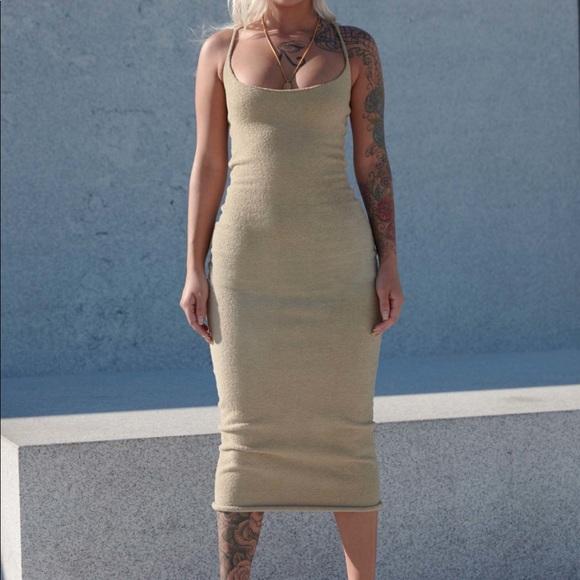 Tags Boucle Midi Dress Beige   Poshmark